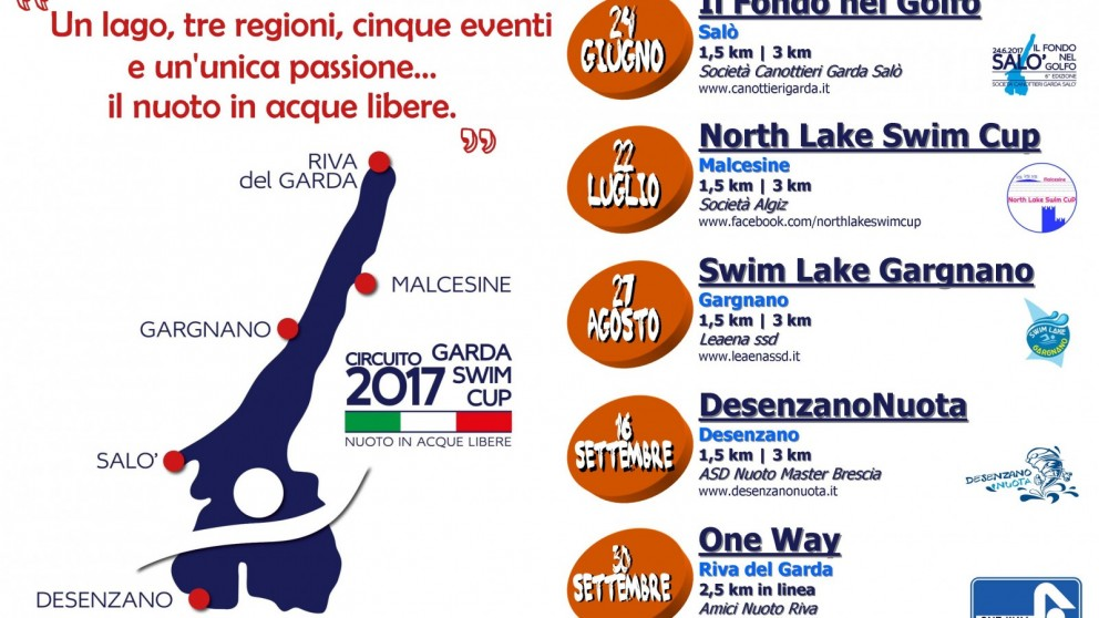 Calendario Nuoto Master.One Way Gara Di Nuoto In Acque Libere Amici Nuoto Riva