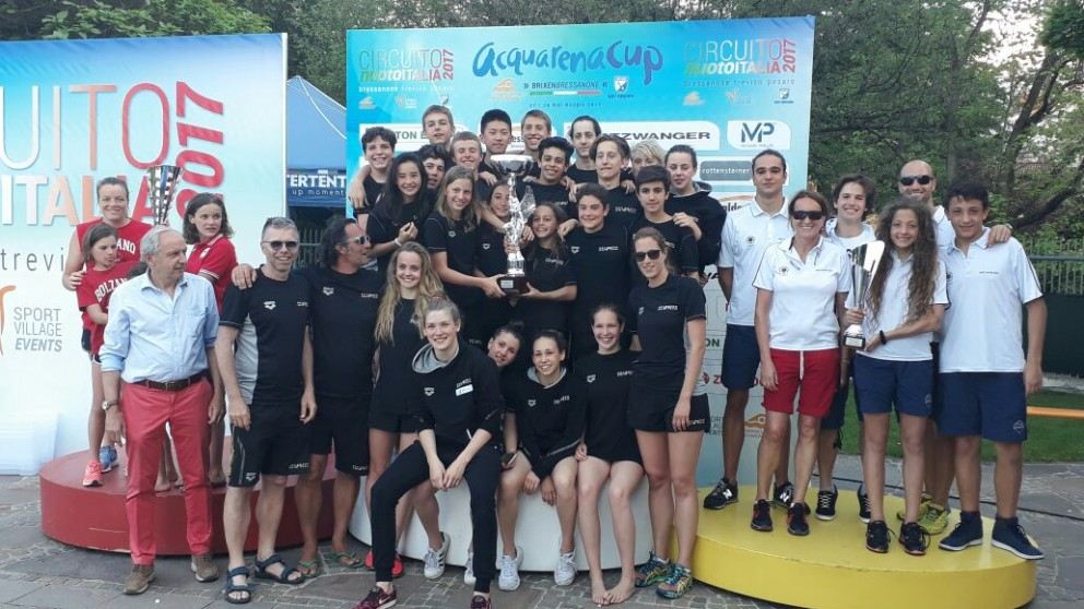 ANR terza società classifica all'Acquarena Cup di Bressanone